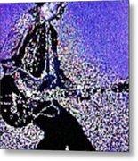 Chuck Berry Rocks Abstract Metal Print