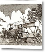 Chuckwagon Cattle Drive Breakfast Metal Print