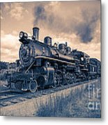 Full Steam Through The Meadow Metal Print