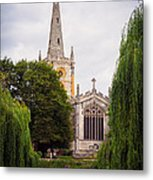 Church Across The River Metal Print by Trevor Wintle