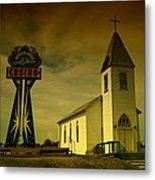 Church And Casino Those Two Angels  Metal Print