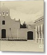 Church And Courtyard Argentina Metal Print