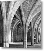 Church Archways In Black And White Metal Print