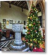 Church At Christmas V7 Metal Print