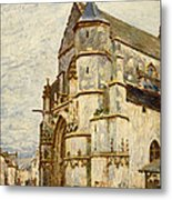 Church At Moret After The Rain Metal Print