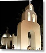 Church At Night In Playa Del Carmen Metal Print