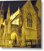 Church At Night Metal Print