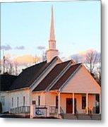 Church At Sunset Metal Print