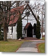 Church At The Lake Metal Print