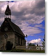 Church At The Okeefe Ranch Metal Print