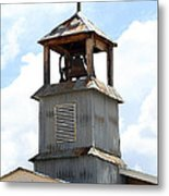 Church Bell Tower In Truchas In New Mexico Metal Print