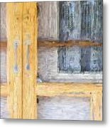 Church Camp House Detail Painterly Series 14 Metal Print