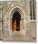 Church Entrance Metal Print