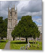 Church In Avebury Uk Metal Print