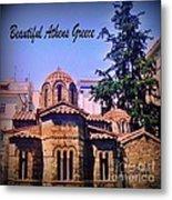 Church In Beautiful Athens Metal Print