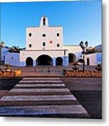 Church In Sant Josep Town On Ibiza Island Metal Print