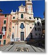 church in Sori. Italy Metal Print