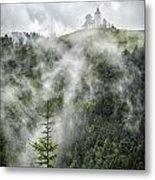 Church In The Clouds Metal Print