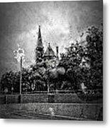 Church In The Rain Metal Print