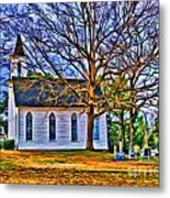 Church In The Wildwood - Paint Metal Print