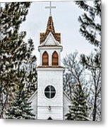 Church In The Woods Metal Print