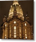 Church Of Our Lady At Night  -  Dresden - Germany Metal Print