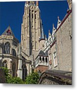 Church Of Our Lady In Bruges Metal Print
