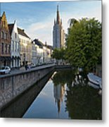 Church Of Our Lady Reflection Metal Print