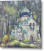 Church Of Our Saviour. Abramtsevo. Sketch Metal Print