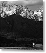 Church Of Saint Peter In Black And White Metal Print