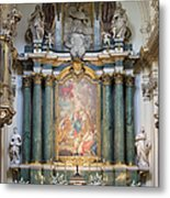Church Of Santa Barbara Interior In Madrid Metal Print