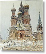 Church Of St. Basil In Moscow Metal Print