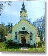 Church Of The Meadow Metal Print