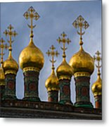 Church Of The Nativity Of Moscow Kremlin - Square Metal Print
