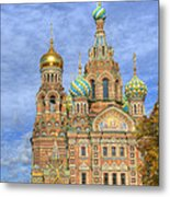 Church Of The Saviour On Spilled Blood. St. Petersburg. Russia Metal Print