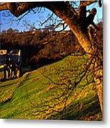 Church On A Landscape, Rievaulx Abbey Metal Print