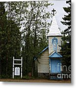Church On Alaskan Highway Metal Print