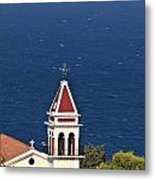 Church On The Top Of The Bohali Hill In Zakynthos Greece  Metal Print