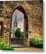 Church Ruins In Boppard Germany Metal Print