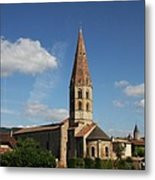 Church Saint Marcel - Cluny Metal Print
