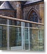 Church Seen Through A Transperant Screen  Metal Print