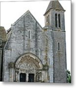 Church St Thibault- Burgundy Metal Print