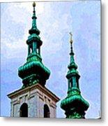 Church Steeples - Bratislava Metal Print
