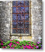 Church Window In Brittany Metal Print