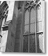 Church Windows And Subway Posts Metal Print