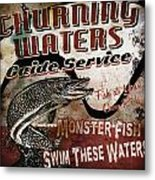Churning Waters Sign Metal Print