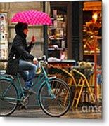 Ciclista - Milano Metal Print