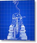Cigar Lighter Patent 1888 - Blue Metal Print