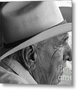 Cigar Maker Remembering His Past Metal Print by Rene Triay Photography