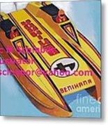 Cigarett Power Boat Illustration Metal Print
